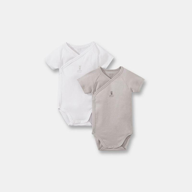 Lot de 2 bodys okaidi naissance en coton organique