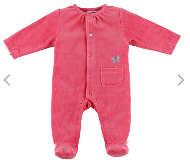 Pyjama grenouillière en velous Noukie's