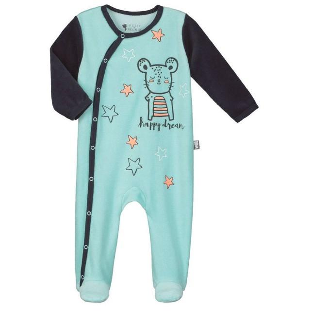 Pyjama bébélapinou petit beguin à ouverture pression latérale